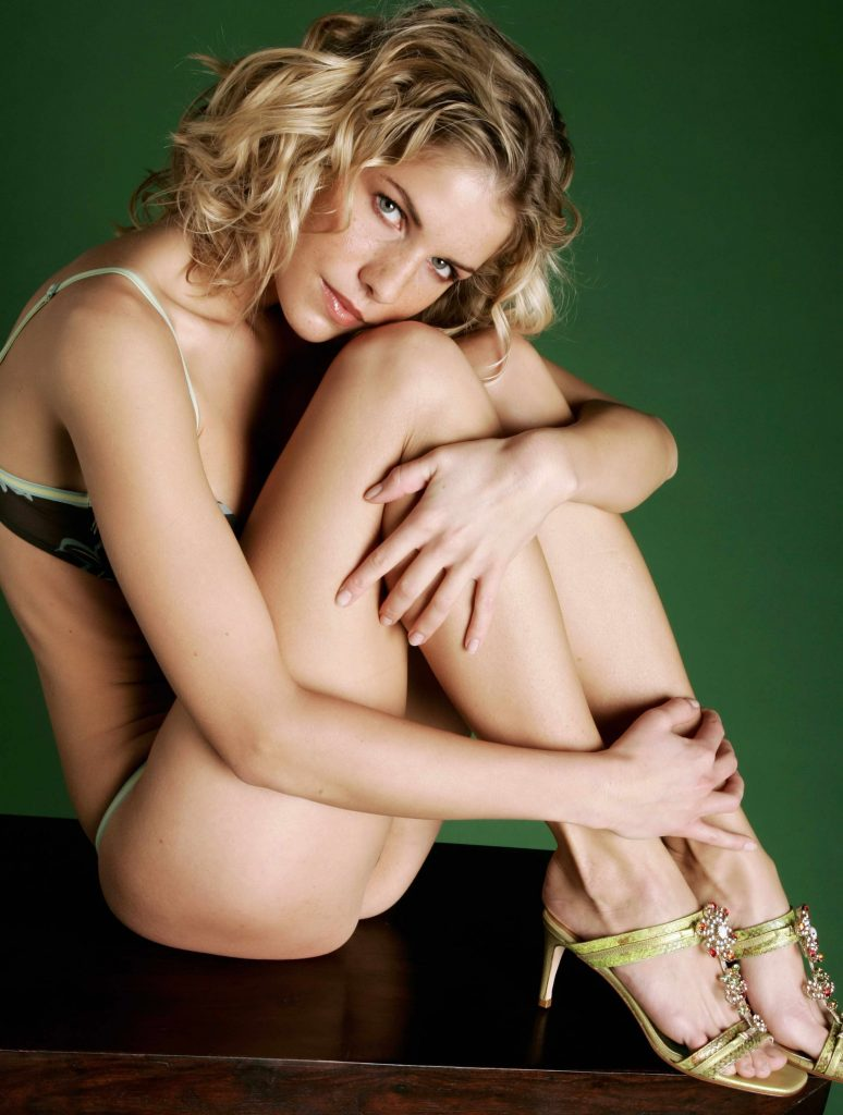 Curly Blonde Toned Body